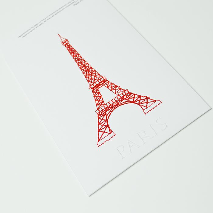 imprimerie luxe Paris - broderie sur papier carte postale