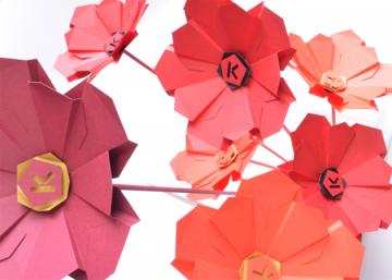 pliage manuel fleurs en papier